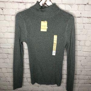 NEW Sonoma Gray Knit Turtleneck Sweater